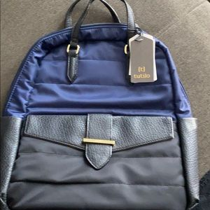 Tutillo Travel Backpack/Satchel, Navy & Black